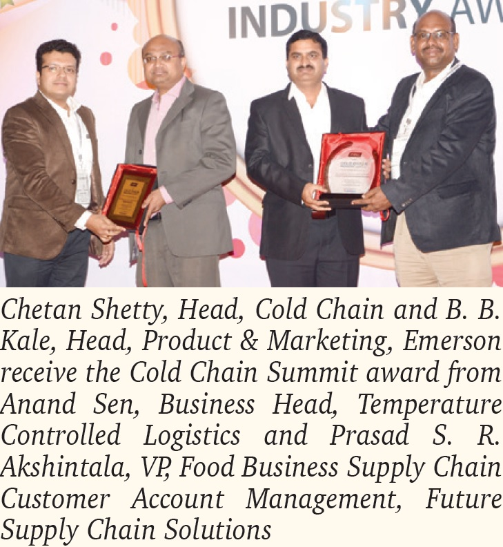 Emerson India Wins Cold Chain Summit and ASSOCHAM Awards